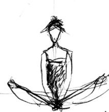 fall yoga drawing